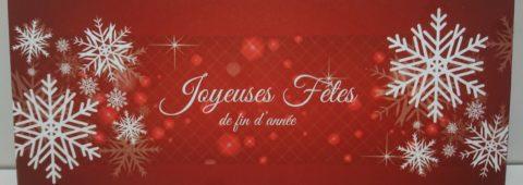 Joyeuse fêtes rouge
